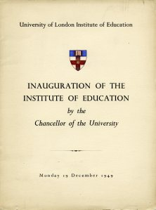Programme for the inauguration of the ATO, 19th December 1949