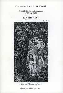 Front cover of Literature in School by Ian Michael