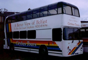 Belfast tour bus