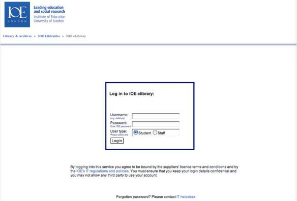IOE eLibrary: remote access to electronic resources | Newsam