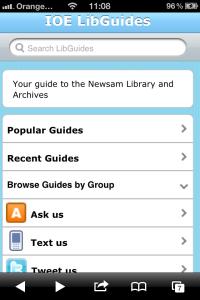 LibGuides iPhone