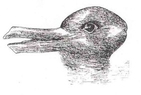Source: http://simple.wikipedia.org/wiki/File:Duck-Rabbit_illusion.jpg
