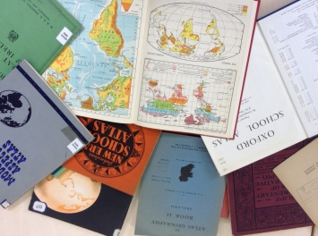 school atlases:  geography textbooks collection