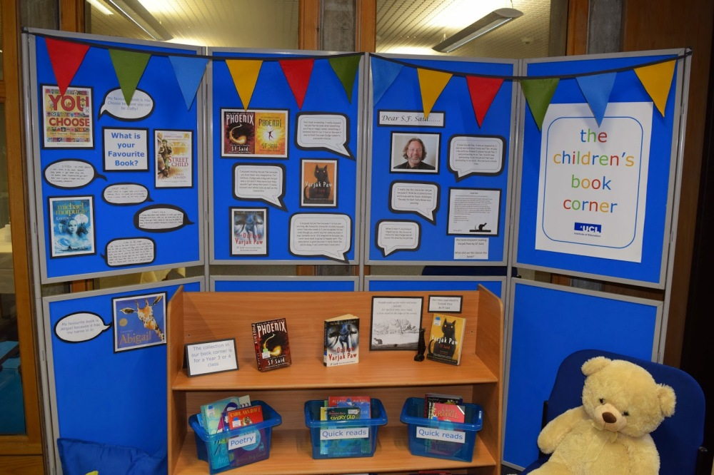 S. F. Said writes about the opening of the Children's Book Corner in the Newsam Library at UCL IOE (1/4)