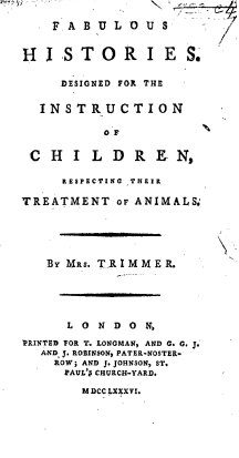 Title page of 'Fabulous histories' by Mrs Trimmer (1786)