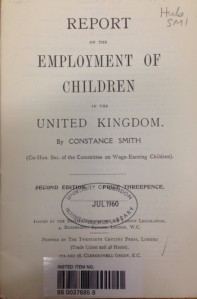 Report on the Employment of Children in the UK by constance smith
