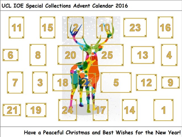 UCL IOE Special Collections Advent Calendar