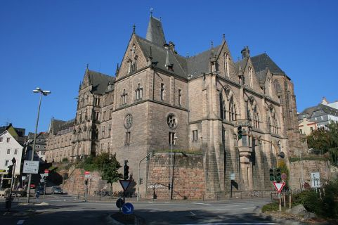 Imposing Gothic-style university building, looking somewhat like a mediaeval castle.