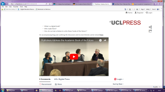 Screenshot of video of panel discussion.