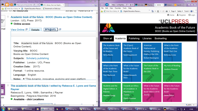 Screenshot of split screen, with content rearranged.