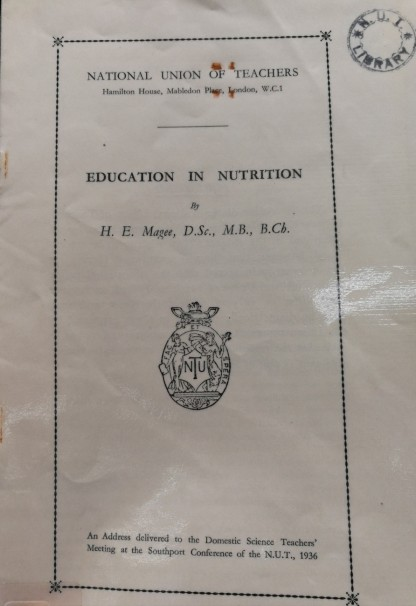 Education in nutrition