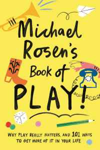 Book cover, bright yellow, playful.