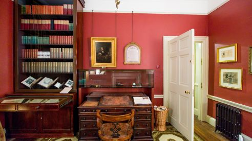Charles Dickens' study at 48 Doughty Street.