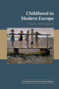 Book cover with impressionist painting of five yound children on the beach.